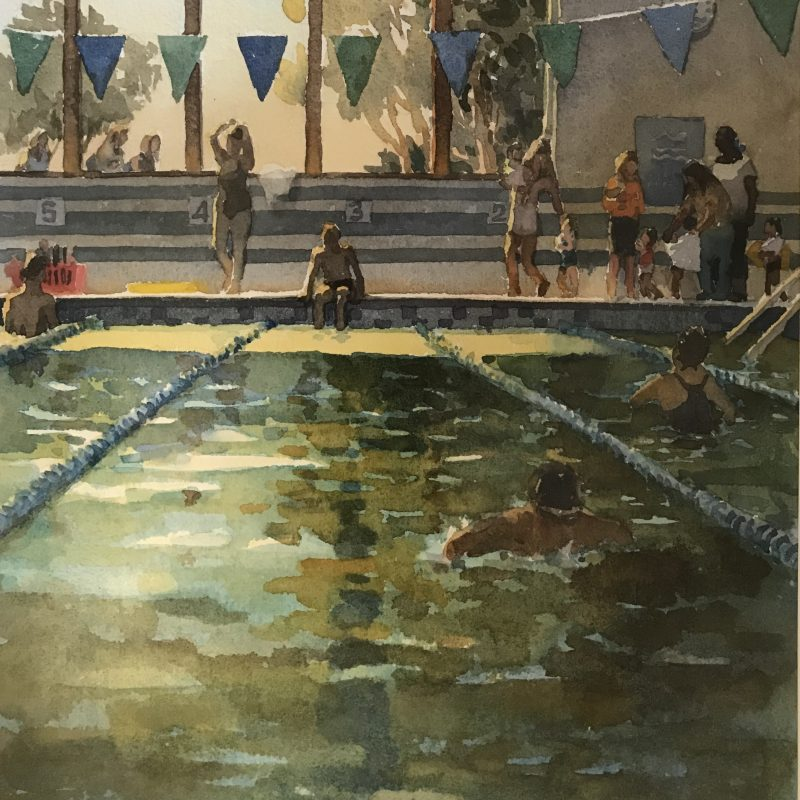 Late Afternoon At Swimming Club